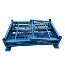 Mild Steel Foldable Pallet Container, Capacity: Approx 1000 kg