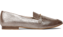Bata Red Label Gold Loafers Women Shoes