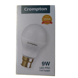 Round Cool Daylight Crompton Greaves LED Bulb, Base Type: B22