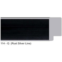 114-Q Series Rust Silver Line Photo Frame Molding