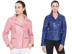 Leather Women Biker Jacket