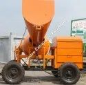 Concrete Mixture Machine with Hydraulic Jack Hopper and Printer