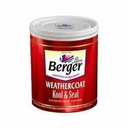 Terrace And Exterior Walls Acrylic Berger Weathercoat Kool & Seal, Number Of Coatings: 2 - 3