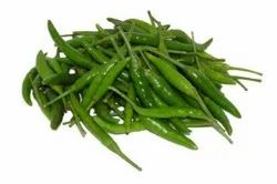 A Grade Green Chilli for Cooking, Packaging Size: 10 kg