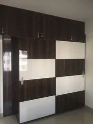 Living Room Interior Wardrobe Designers, Work Provided: Wood Work & Furniture