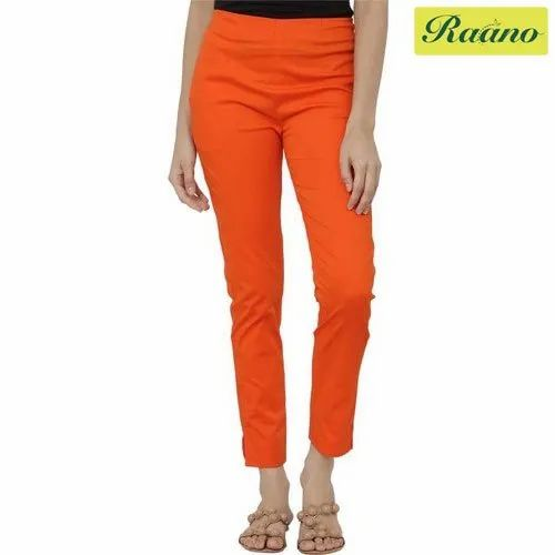 Plain Regular Fit Women Orange Trousers Size 30 36 Rs 479 Piece Id 21697786888 Temporarily out of stock due to high demand more product coming soon. indiamart
