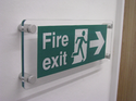 Exit Symbol Signage On Acrylic Sheet