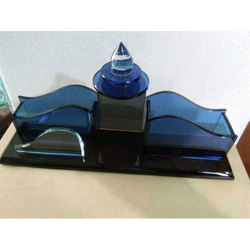 Polished Glass Table Top Desk Organizer Gifts, Size: Width 10inch