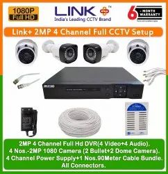 Link Plus 4 Channel 2MP. Full CCTV Combo KIt (Hard-disk Not Included)