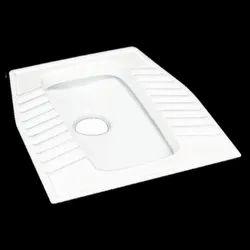 White Allwin Ceramic Eastern Pan Toilet Seat, Packaging Type: Box