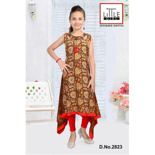 930d129c8e Cotton Girls Round Neck Kurti, Rs 900 /piece, Little Girl | ID ...