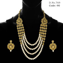 Traditional Bridal Polki Necklace Set