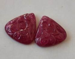 Natural Ruby Carving 10 Ct