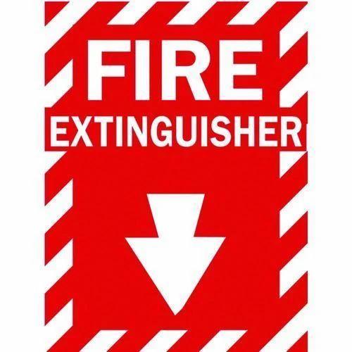 Rectangle Fire Extinguisher Signage, Rs 100 /piece, Sloak