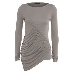 Round Neck Plain Ladies Party Wear Cotton Top