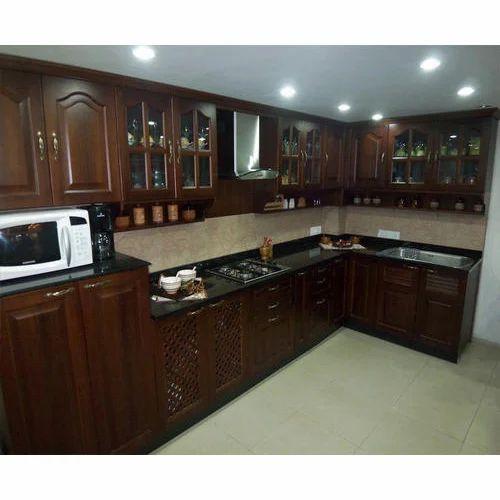 Designer L Shaped Modular Kitchen At Rs 2500 Square Feet: L Shape Wooden Modular Kitchen