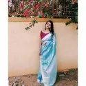 Net Ladies Tissue Silk Saree, 6.3 M (with Blouse Piece), Machine Made