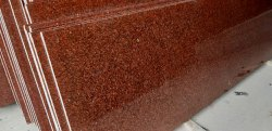 Polished RUBY RED GRANITE, for Flooring, Thickness: 15-20 Mm