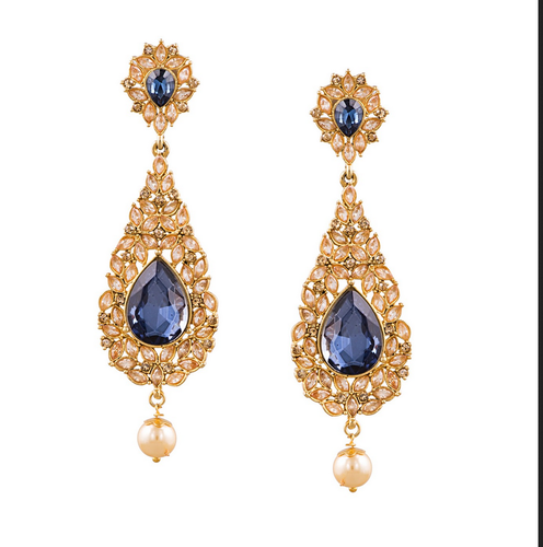 375671bd7721d Sia Blue Stone Studded Drop Earring