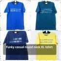 Half Sleeve Printed Funky Casual Round Neck Xl T Shirt