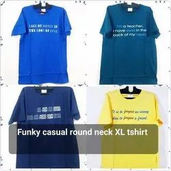 Funky Casual Round Neck XL T Shirt