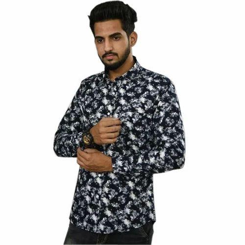 7689859a9d Black Mango Garments Medium And Large Mens Printed Party Wear Shirts ...