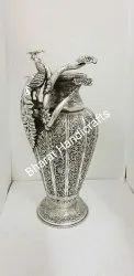 Silver Plated Metal Flower Vase