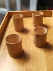 Natural Bamboo Shot Glasses