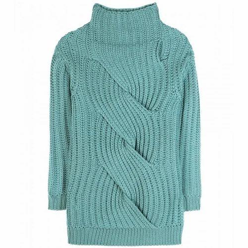 2dff6bad12a744 Ladies High Neck Designer Sweater