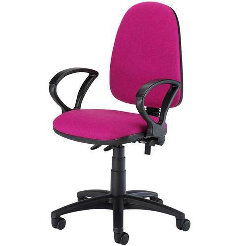 Polyester Seat Pink Computer Chair