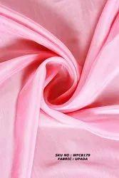 Pink Dyed Upada Fabric