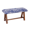 Rug Upholstered Wooden Small Bench