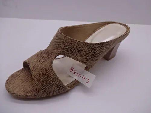 Ladies Loose Heel Casual Polymer
