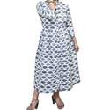Cotton Printed Ladies Western Wear Dress