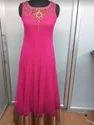 Designer Ladies Pink Kurta