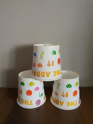 Printed Paper Cups 100ml, For Event and Party Supplies, Packet Size: 100 Pcs