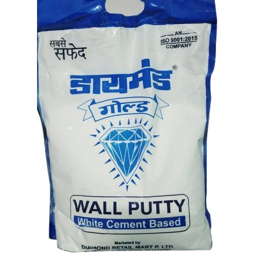 Diamond Gold Wall Putty 5Kg (White Cement Based), Packaging Type: Plastic Bag
