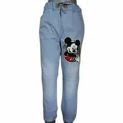 Jai Kalka Printed Ladies Stylish Trendy Denim Jogger Jeans