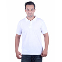 Mens Solid White Collar T-Shirt