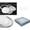 Round Square Kit Surface Mount 12w Slim LED Panel Downlight