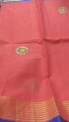 Kota Supernet Saree Cotton Kota Gotapati Work Saree, Blouse Size: Full Size, Size: Full Size