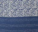 Blue Hand Block Kantha Bed Cover