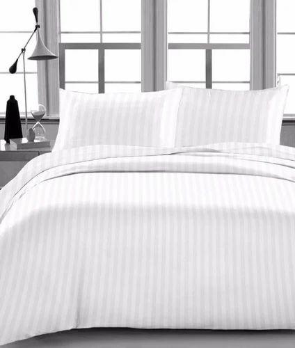 Amazing 400 Tc Bed Sheet Satin Stripe 1cm