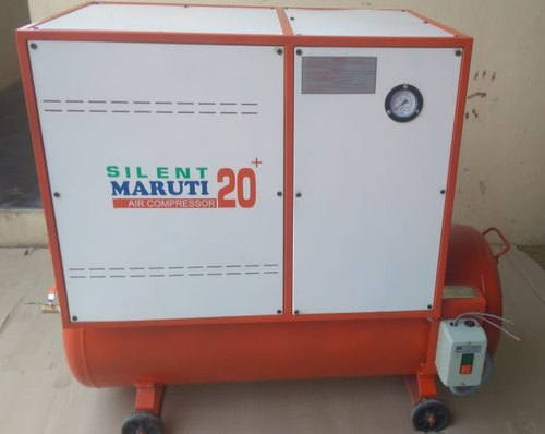 1 - 15 HP Reciprocating Silent Air Compressor, Air Tank Capacity: 200 L