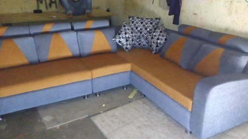 L Shape Dual Color Sofa Set