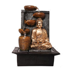 Lord Buddha LED Decorative Water Fountain with Multiple Pots