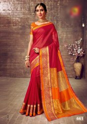 Cotton Silk Ladies Wear Indian Saree