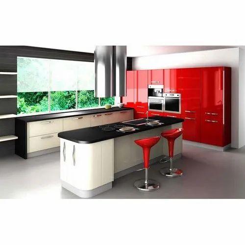 pvc designer modular kitchen rs 600 square feet sri