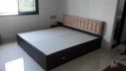 Drawer Brown Bed, For Home, Size: 6feet X 6.5 Feet