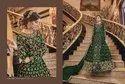 Wedding Wear Mix Color Designer Swagat Violet Gown